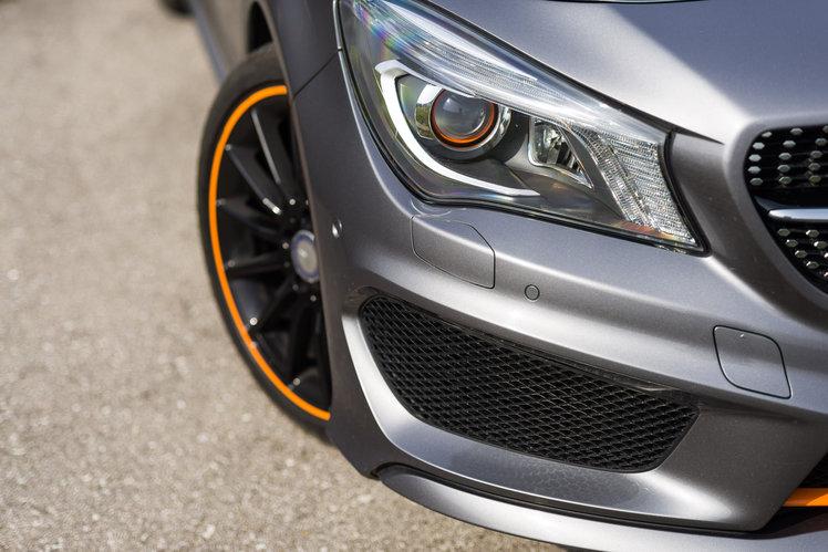 Mercedes benz cla 200 shooting brake orange art edition for Mercedes benz cla 500